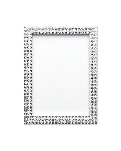 Flacher hell/Spiegeleffekt/ Mosaik Bilderrahmen/Foto-/Posterrahmen - Die Rahmengrösse beträgt 28 mm breit und 16 mm tief - Silber Bling - 30 x 20 zoll - mit Plexiglas