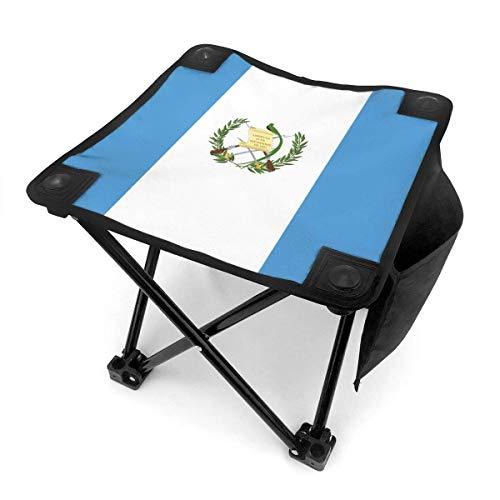 COMMER Taburete plegable con diseño de bandera de Guatemala, portátil, con bolsa de transporte, pa