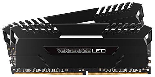 Corsair Vengeance LED Kit di Memoria Illuminato LED Entusiasta 16 GB (2x8 GB), DDR4 3000 MHz,C15 XMP 2.0, Nero con Illuminazione a LED Bianco
