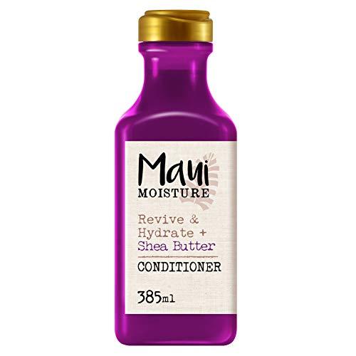 Maui Moisture, Acondicionador Revitaliza e Hidrata Manteca de Karité, pelos Secos y Dañados, 385 ml