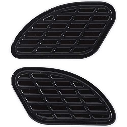 Print Motorrad-Tankpad Tankprotektoren seitlich Retro Bumps Paar schwarz glänzend, Unisex, Multipurpose, Ganzjährig, Kunststoff