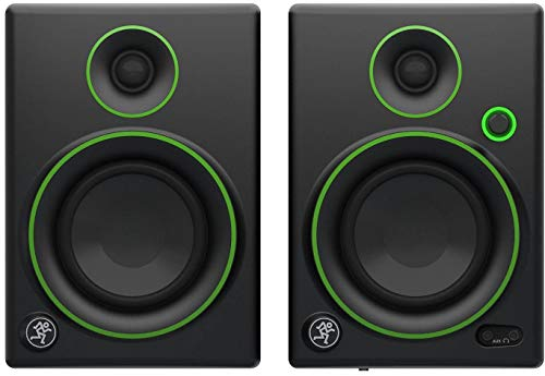 Mackie Creative Reference Multimedia Monitor (Set of 2), Black w/green trim, 4-inch (CR4 (Pair))