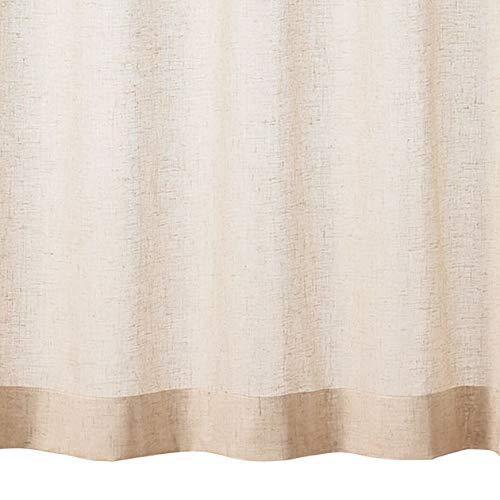 無印良品 ポリエステル麻ボイルプリーツカーテン・2枚組/生成 幅100×丈198cm 82485820