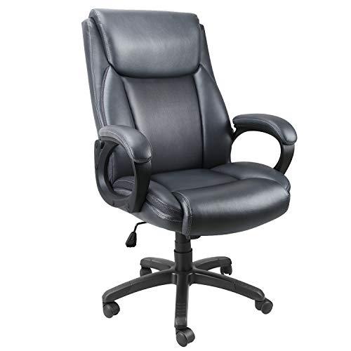 Mysuntown Ergonomic High Back PU Leather Office Chair Task Chair Executive Swivel Chair Adjustable Height
