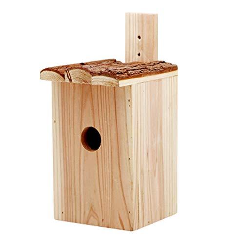 Bird House Mangiatoia For Uccelli Da Esterno In Legno Voliera Voliera For Uccelli Decorazione For Esterni Opzione Regalo Perfetto For Bambini Retro Artigianato Casa Di Campagna Voliera In Legno Natura