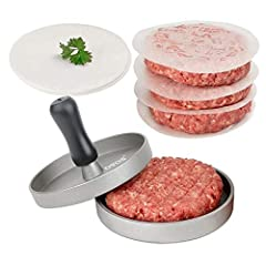 ULTIMATE HAMBURGER TOOL -- This burger press delivers perfectly shaped burgers complete with grooves for the professional burger look SUPER DURABLE -- Designed and engineered to perfection ensuring an enjoyable dining experience every day CREATE PERF...