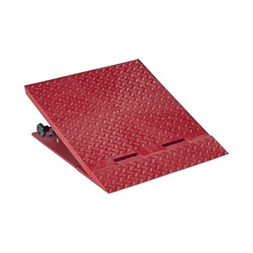 Z-W-Dong Las rampas for sillas de Ruedas Mat, Ajustable Altura Interior de Silla de Ruedas rampas Triángulo del cojín Antideslizante Servicio Rampas Rampas (Color : Red, Size : 50 * 56 * 13.5~22CM)