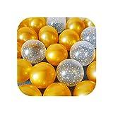 Decoraciones De Fiesta Oro | 15pcs 10inch Látex Globo Set Star Clear Ink-blue Balloons Decoración De La Boda Baby Shower Fiesta De Cumpleaños Suministros Decoración Del Hogar-Mint