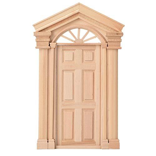 1:12 Puppenhaus DIY Mini Tür Holz Steepletop Fenster Sonne tür Tür Puppen Puppenhaus Möbel Zubehör für Kinder