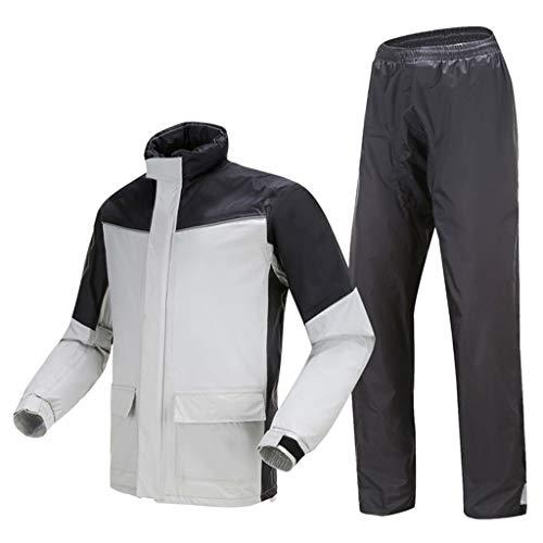 Lluvia chaqueta de los hombres, a prueba de agua de lluvia de invierno chaqueta de los hombres a prueba de agua termal Pesca transpirable ropa de ciclo de la motocicleta del montar a caballo al aire l