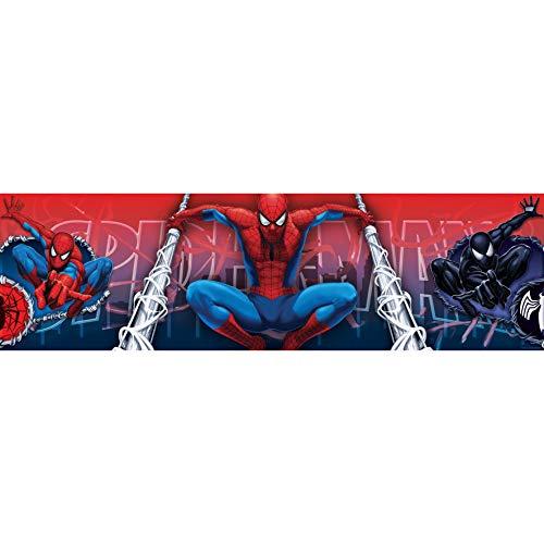 Spiderman mittelgroße Bordüre Rolle Selbstklebende Tapetenbordüre