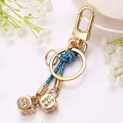 CKH sleutelhangers mannen en vrouwen gouden dobbelstenen auto sleutelhanger ringen ring paar hanger tas ornamenten