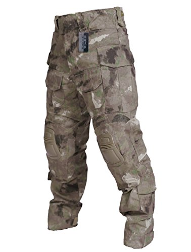 ZAPT Tactical Clothing Army Combat Apparel Military Camouflage Uniform with Knee Elbow Pads
