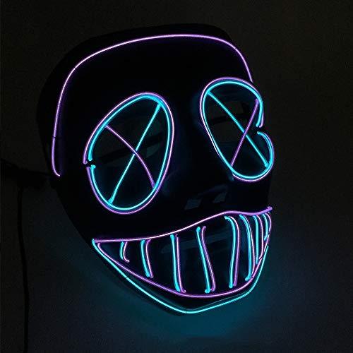 Sailormjy Led-masker, led-masker met 3 flitsmodi, voor Halloween, carnaval, feest, kostuum, cosplay decoratie (niet inbegrepen)