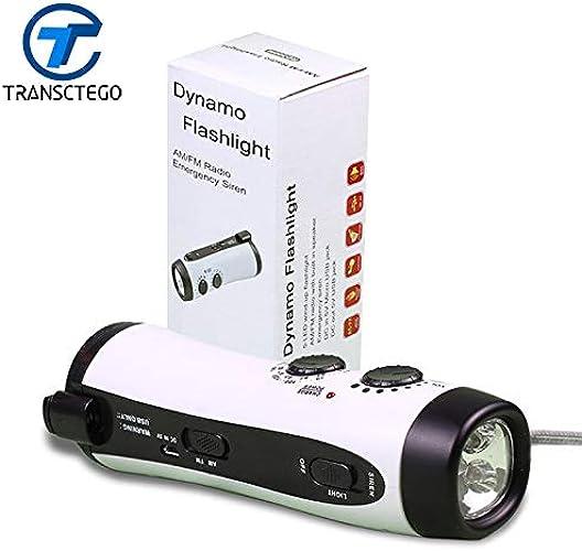 Blanc, blanc   vert multifonction LED dynamo lampe torche d'urgence lampe torche radio charge mobile