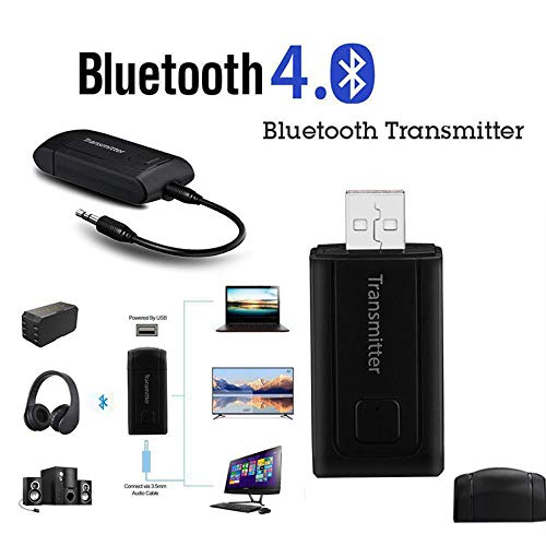 LFJNET Best Choice Bluetooth V4 Transmitter Wireless A2DP 3.5mm Stereo Audio Music Adapter