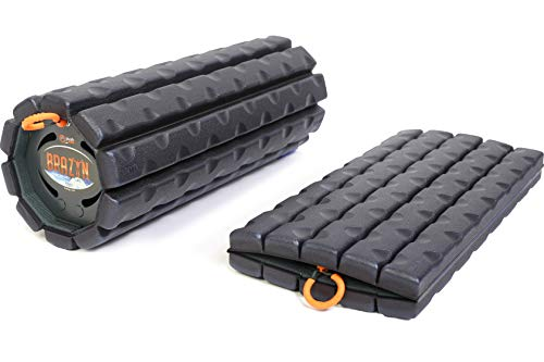 Brazyn Morph Bravo Foam Roller - for Home, Gym, Office, Travel, Athletes - Collapsible & Lightweight Roller for Trigger Point Massage, Myofascial Release & Back Pain Relief (Midnight Blue)