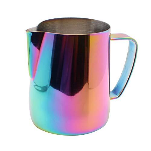 Dianoo Lanciatore Per Latte In Acciaio Inossidabile Placcato In Titanio Scrematrice Tazza Di Latte Art Caffè Latte Cappuccino Multicolore 350ml