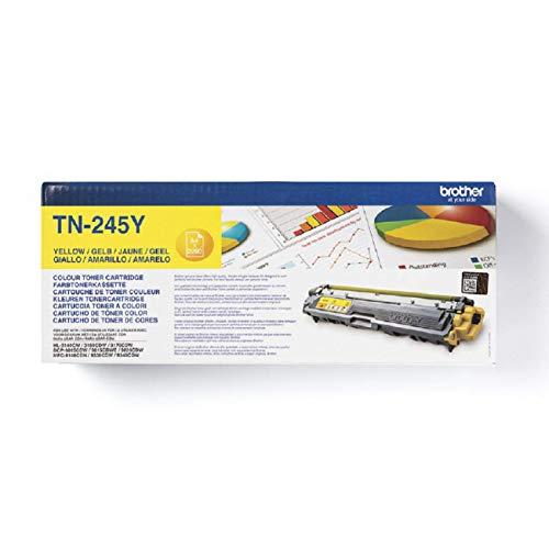 Brother Original Jumbo-Tonerkassette TN-245Y gelb (für Brother HL-3140CW, HL-3150CDW, HL-3170CDW, DCP-9020CDW, MFC-9140CDN, MFC-9330CDW, MFC-9340CDW)
