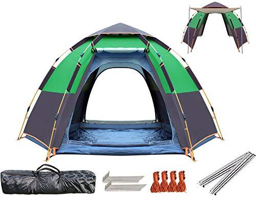 Slakr Zelt Hexagon, 5 Bis 8 Mann Festival Kuppelzelt, Wasserdichtes Familiencampingzelt Mit Eingenähtem Bodenblech