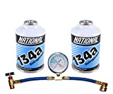 ZeroR R134a_ AC Refrigerant_ Top-Kit for MVAC use in a 12oz Self-Sealing Container - USA Made (3 Items)
