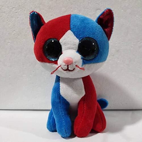 qwermz Peluche, Muñeca Animal Lindo Gato Rojo Y Azul Bebé Bebé Peluches Suaves Regalo De Cumpleaños 15cm Decoración De La Habitación