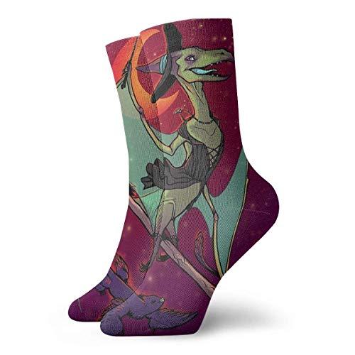 NA Pteranodon heks dinosaurus vogels boom nieuwigheid bemanning sokken atletische sokken kousen 30CM