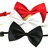 Lalang 3 x Haustier Niedliche Kragen Fliege Für Hund Katze Krawatte Halsband Vielfarbe