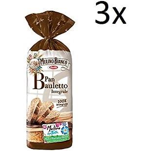 3X Barilla Mulino Bianco Pan Bauletto Whole Wheat Sliced Bread 400g 100% Italian!:Interoot