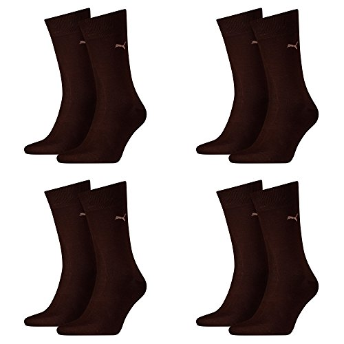 PUMA Herren Casual Socken Classic 8er Pack (39-42, Dark Brown)