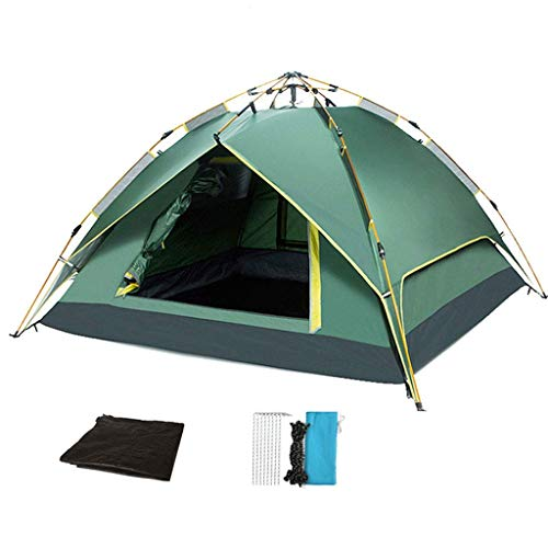 HZK Gazebo Outdoor Event Shelter Garden Camping Party Tent Fully Waterproof Hydraulic Double-layer Automatic Tent (blue/green, 2.1m X 1.9m) WDDT (Color : Green)