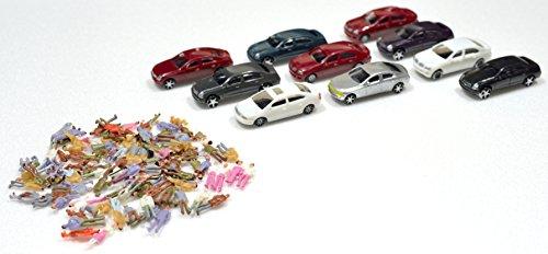 N poupée de jauge, ensemble aléatoire minicar (poupée 100 corps, dix minicar) s'il vous plaît bonus de 1/100 à grande échelle avec le modèle de diorama ferroviaires modèles architecturaux, etc.