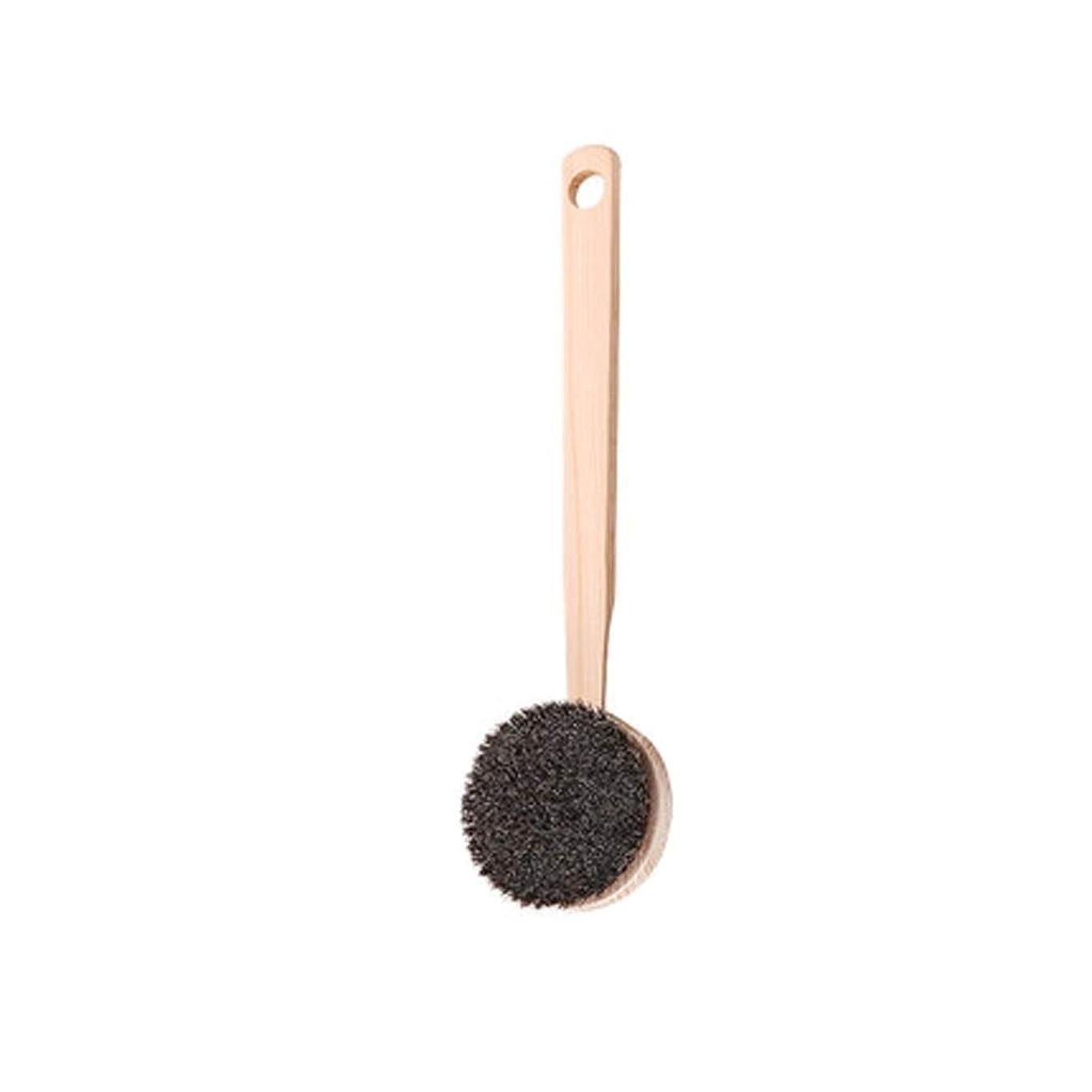 ノートボットブリリアントバスブラシバックブラシロングハンドルやわらかい毛髪バスブラシバスブラシ角質除去クリーニングブラシ (Color : A)