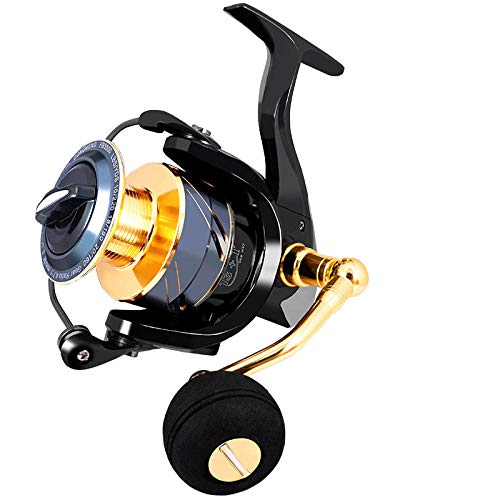 XXBFDT Carrete de Pesca Spinning Rodamientos Manija Plegable - Carrete de Pesca de mar de Metal-Modelo 3500