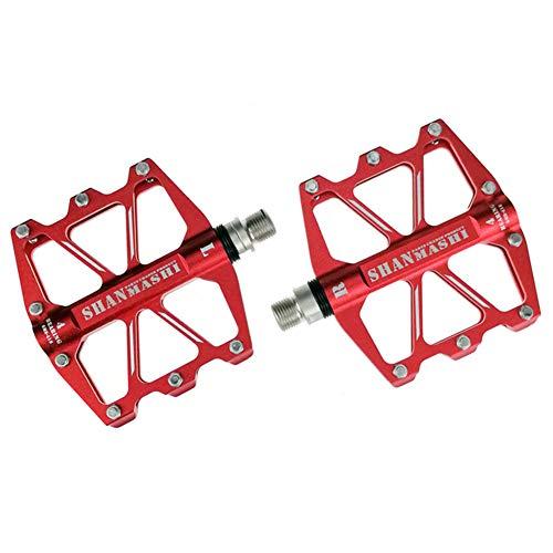 Pedales Mixtos MTB Pedales Bicicleta Pedales Pedales Calapies Adaptador Pedales Automaticos Pedal Bicicleta MontañA por Deporte Al Aire Libre Red,Free Size