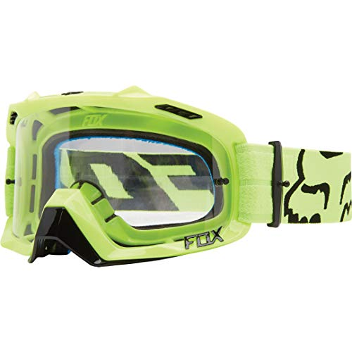 Fox Uni Air Defence Goggle, Race Yellow/Clear, One size