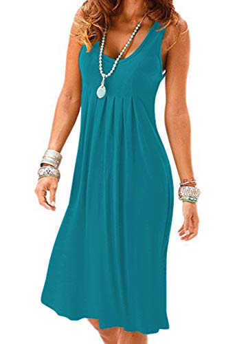 Women Casual Loose Vest Dress for Summer Fall Spring Beach Christmas New Year Size M