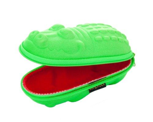 Sunproof Brillenetuis fur Kinder Grüne Krokodil mit roten Mund