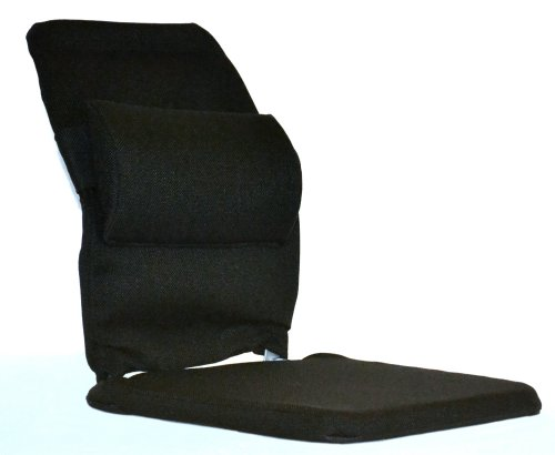 McCarty's Sacro-Ease Deluxe Model Seat Support with Adjustable Lumbar Pad on Back & 1' Poly...