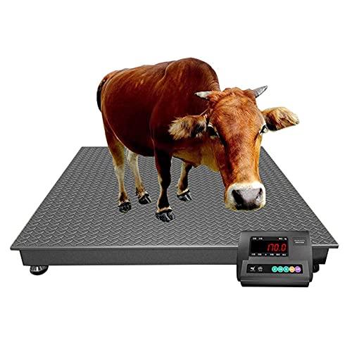 BZZBZZ Báscula Veterinaria de precisión Digital de Alta Resistencia para Ganado con función de pesaje y autobloqueo para Granja, Correo, Transporte, almacén, fábrica (1000-3000 kg)