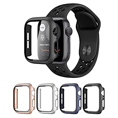 4 Pack Hard PC Watch Case with Tempered Glass S...