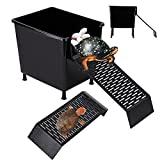 Zvaiuk Black Turtle Laying Eggs Box+Turtle Basking Platform,Turtle Sand Pit ,Turtle Tank Accessories,Turtle Hibernation Box.Suitable for Small Small Turtles, Sun Bathing and Resting Play and Breeding
