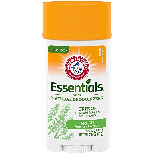 Arm & Hammer Essentials Deodorant with Natural Deodorizers, Wide Stick, Fresh 2.5 oz.