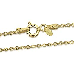 PREMIUM JEWELLERY - Crafted from 925 sterling silver and covered in 18 carat gold tone overlay. Sturdy, durable spring clasp. Tight closure to reduce the chance of catching on fabrics or hair. QUALITY ASSURED – Designed to last a lifetime. Made in Eu...