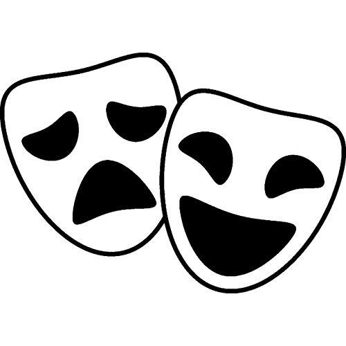 Azeeda A8 'Komödie & Tragödie Masken' Stempel (Unmontiert) (RS00025418)