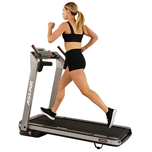 ASUNA Electric Foldable Treadmill with Pulse and LED Monitors, Tablet Holder, Input Speakers,...