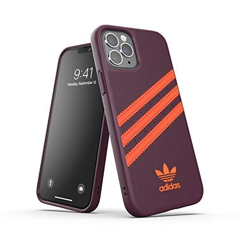 adidas Funda diseñada para iPhone 12 / iPhone 12 Pro 6.1, Fundas a Prueba de caídas, Bordes elevados, Carcasa Original Moldeada, Color castaño y Naranja