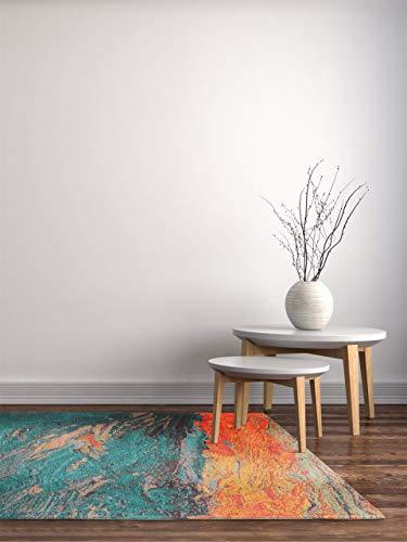 benuta Stay Tapis à Tissage Plat Turquoise 115 x 180 cm | Facile d