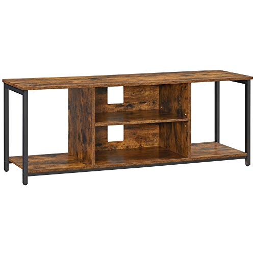 VASAGLE TV Standfor TVup to 60 Inch, TV Cabinet with Open Storage, TV Console Unit with Shelving, for Living Room, Entertainment Room, Industrial,Rustic Brown and BlackULTV052B01