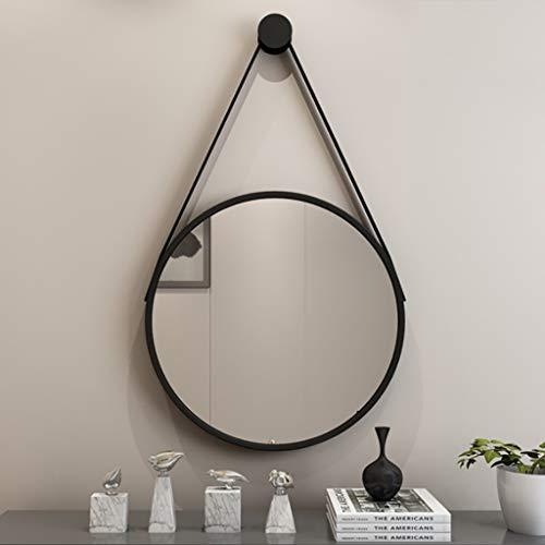 Wandspiegel, grote moderne Nordic wand-badkamerspiegel, ronde cosmeticaspiegel, make-up spiegel, scheerspiegel, slaapkamer decoratie hangspiegel (40CM, 50CM, 60cm)